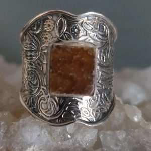 Jewelry - Ammonite Fossil Sterling Silver Ring
